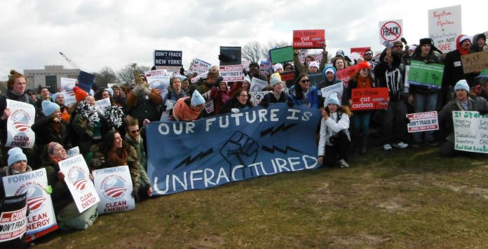 Rallying against fracking in Washington. Photo by Janet and David Muir