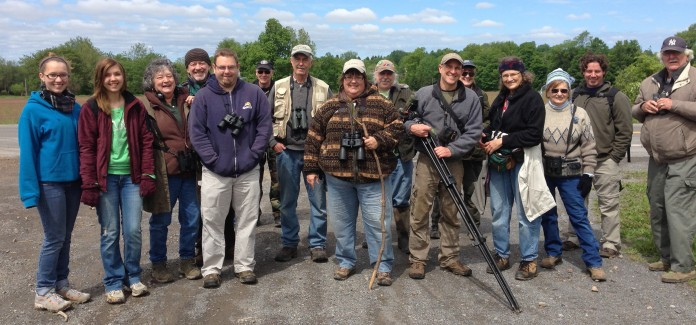 A happy group of birders at Whiskey Hollow . Photo by Joe Brin